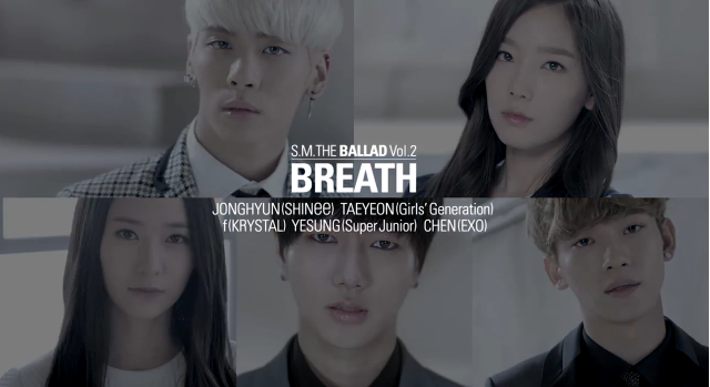 """S M  The Ballad Reveal Music Videos For """"Breath"""""""