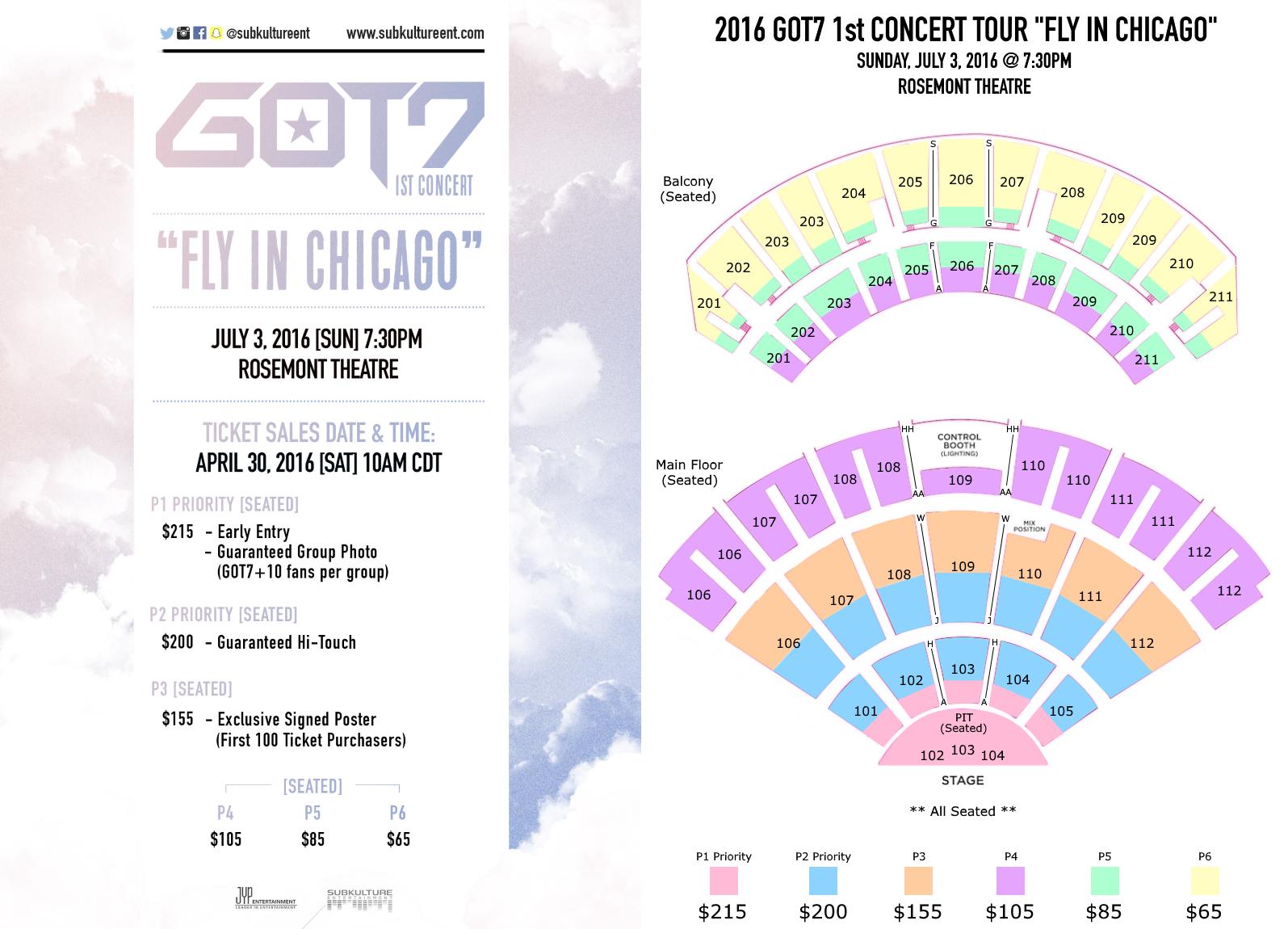 2016 got7 1st concert tour  u201cfly in usa u201d ticket pricing  u0026 information  u2013 hypnoticasia